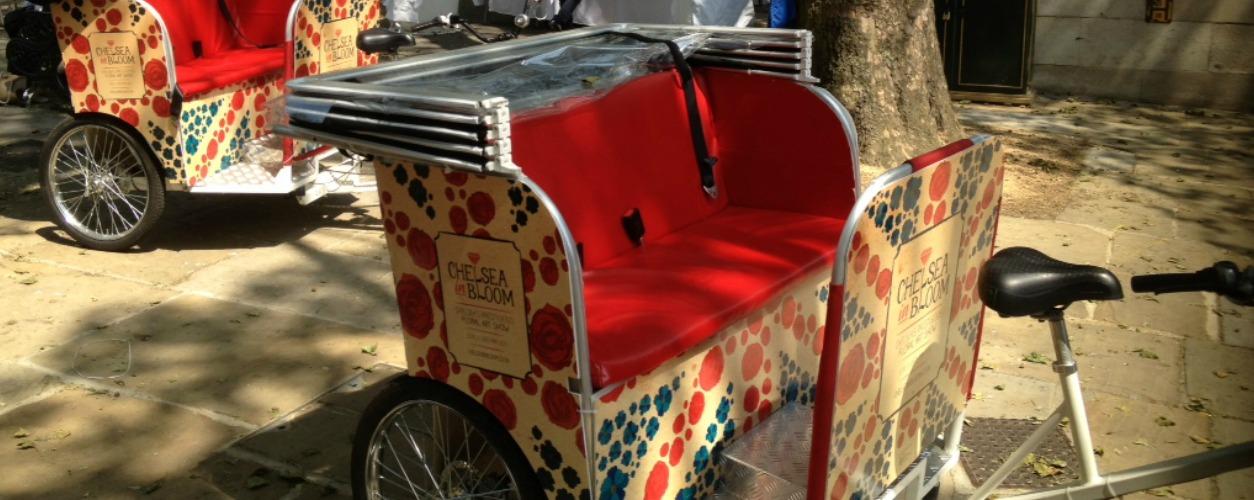Chelsea Flower Show Rickshaw Pedicabs